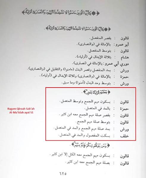 qiroat sab'ah surat al maidah ayat 51