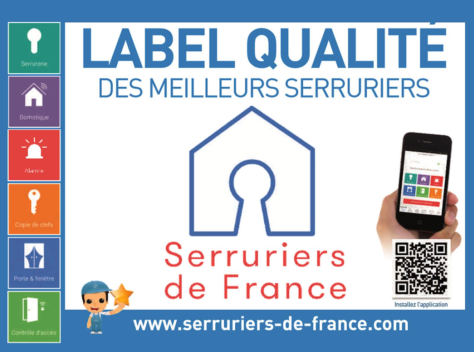 Label Qualité Serruriers de France - 3 Places, Tourcoing.
