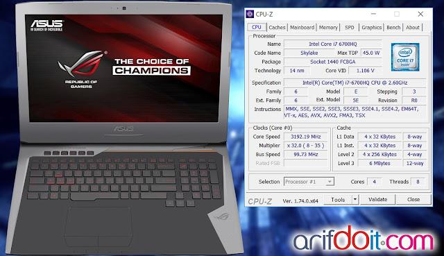 CPU-Z Asus ROG G752