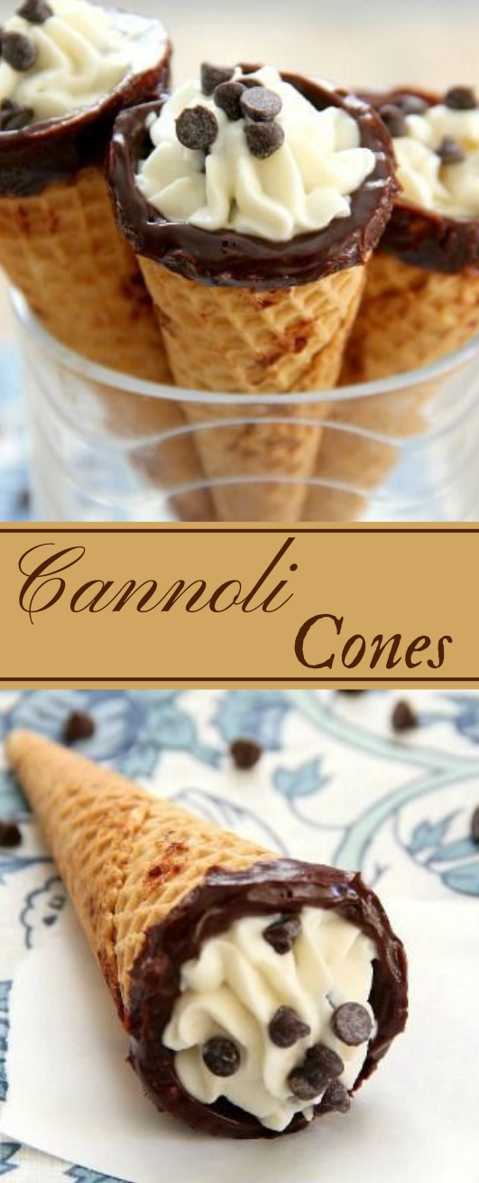 CANNOLI CONES #desserts #icecream #cannoli #snack #recipes