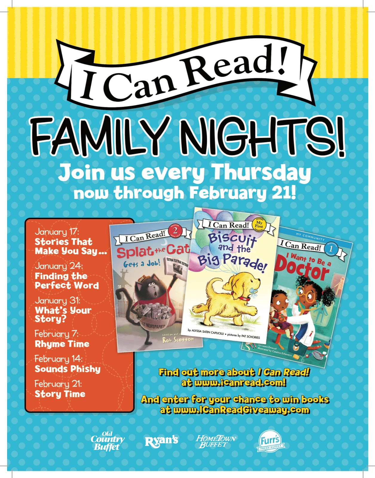 WIN 4 Ovation Restaurant Meal Passes and 3 I Can Read! Series Books!