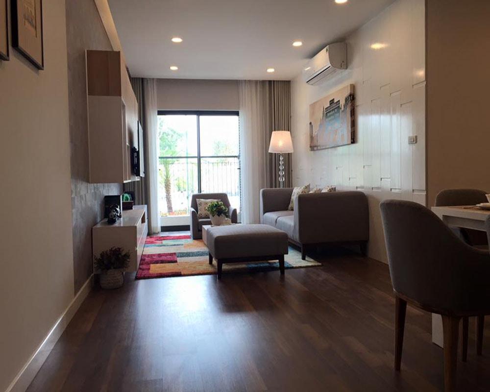 Phòng khách căn hộ 3 ngủ 99m2 Goldmark City