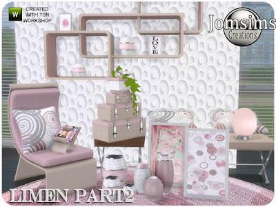 Limen bedroom part 2 Спальня Лимен часть 2 для The Sims 4 Вот продолжение объектов для набора Спальня Лимен. ваза микс. рамка деко. живой стул. подушки деко. Растение только для полки. Журнал Deco. Незаменим, для твоей праведной спальни Автор: jomsims
