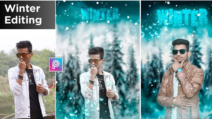 Winter Effect Photo Editing Picsart Manipulation || Winter Photo Effect Editing BY Pk Editz