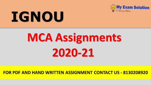 IGNOU MCA Assignments 2020-21