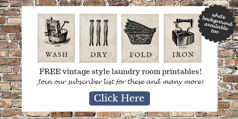 Love these vintage laundry printables!