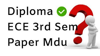 Diploma ECE 3rd Sem Question Papers 2018