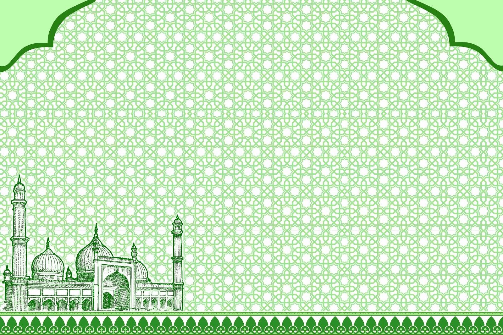 background islami masjid