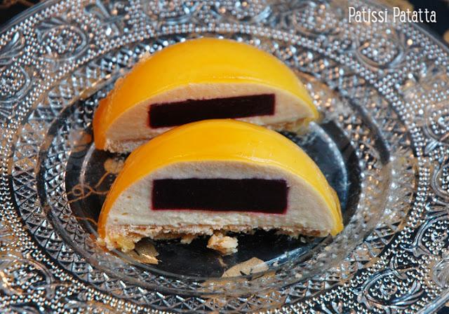 recette de dômes abricot, recette de dômes aux fruits, comment faire des dômes sans coque, comment faire des dômes, tuto dômes sucrés, réaliser des dômes aux fruits, préparer des dômes avec des mousses, dessert st valentin, dessert en amoureux