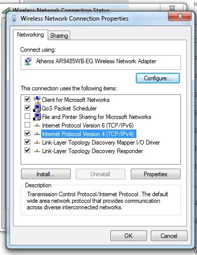 wifi conection properties