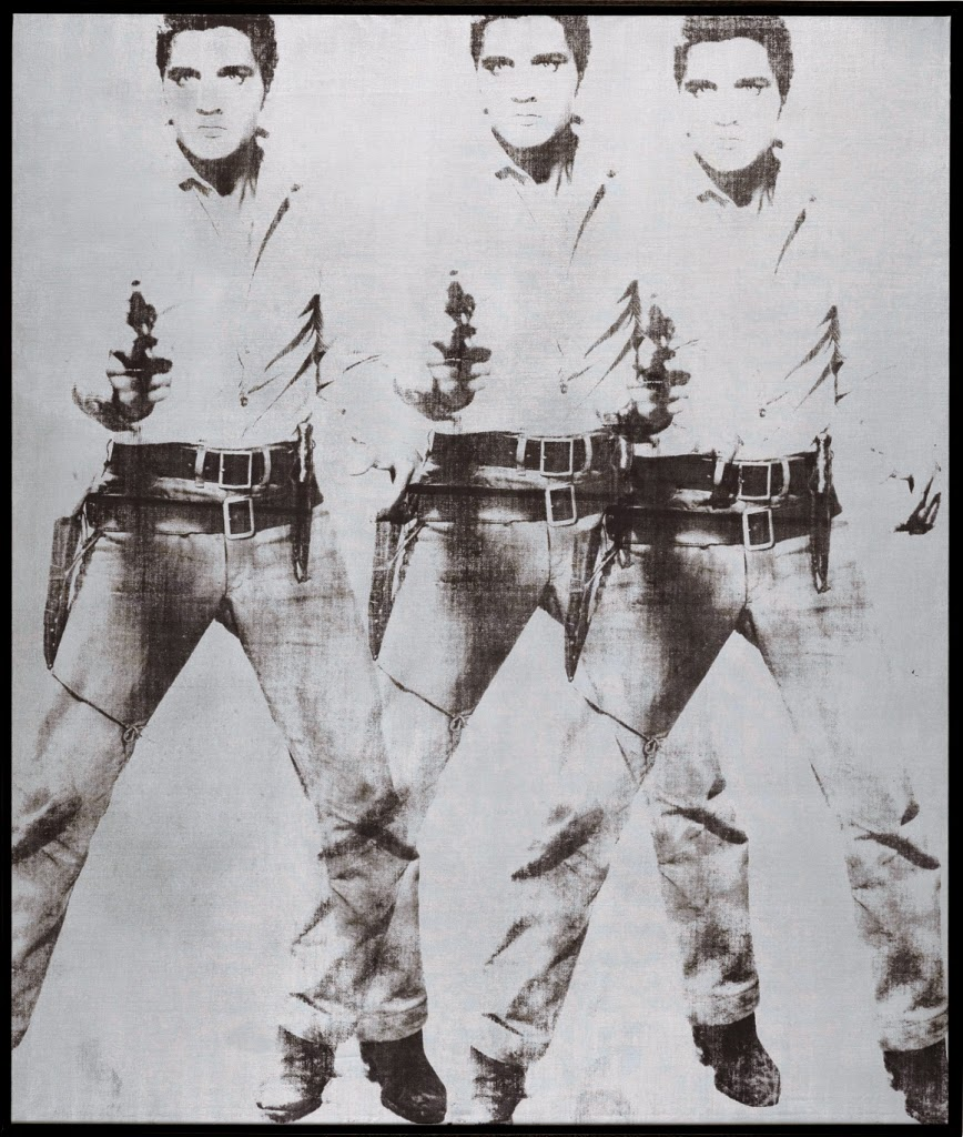 Andy Warhol Triple Elvis [Ferus Type]