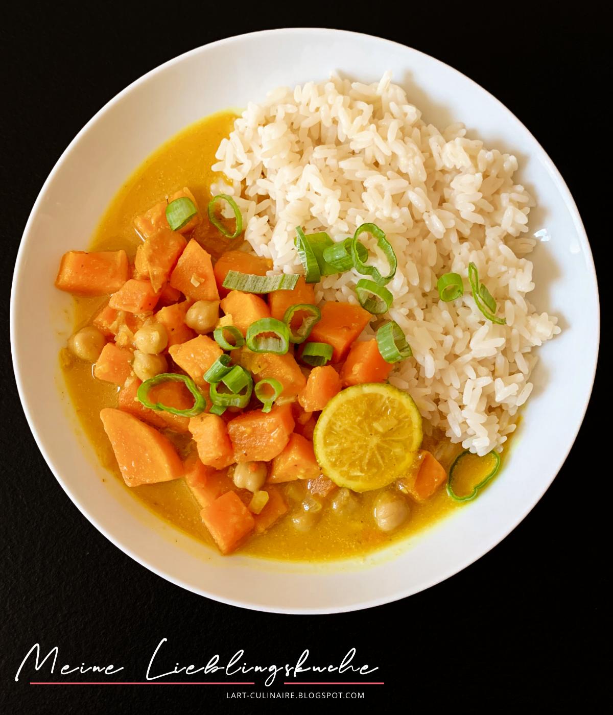Curry mit Kichererbsen und Süßkartoffeln