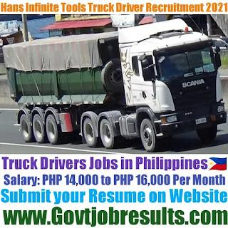 Hans Infinite Tools Company Truck Driver Recruitment 2021-22