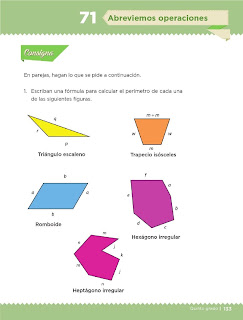 Apoyo Primaria Desafíos Matemáticos 5to Grado Bloque IV Lección 71 Abreviemos operaciones