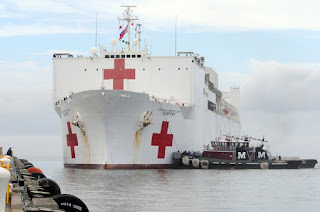 The MARAD Hospital Ship USNS Comfort is expected to depart New York on Thursday April 30, 2020 After treating Coronavirus patients - Ship heading to Norfolk Virginia.