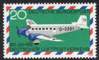 Germany 1969 50th Anniversary German Airmail Junkers