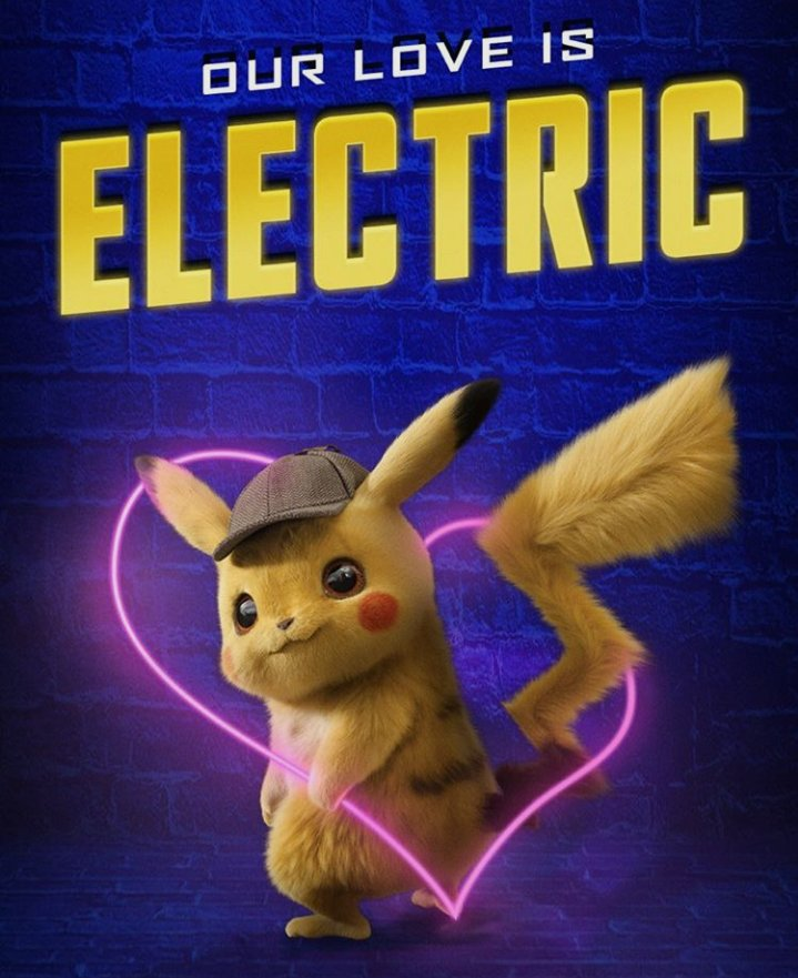 Pokemon Detective Pikachu movie poster a - 11 x 17 inches - 2019