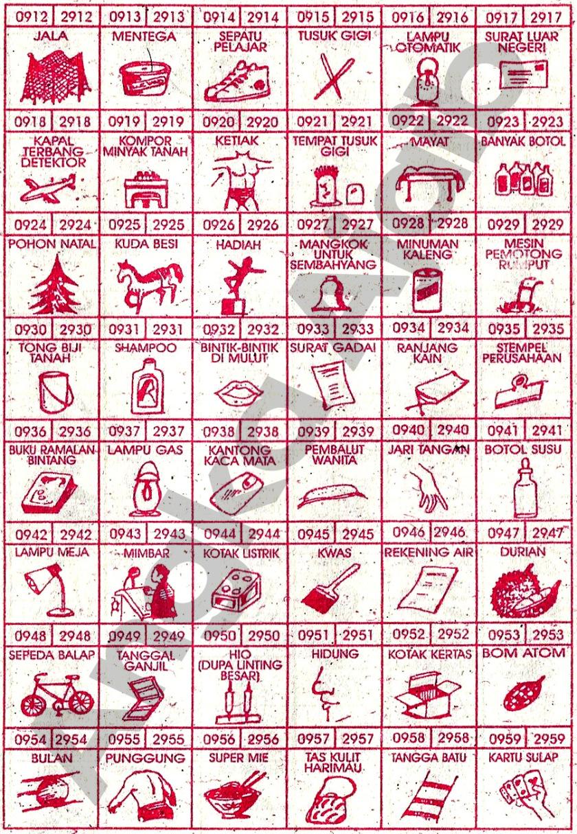 Buku Mimpi 4D Bergambar 0912-0959