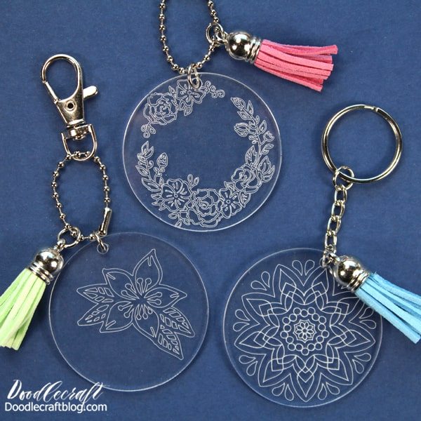 Supplies Needed for Acrylic Keychains: Acrylic Blanks and Keychain Hardware (comes together in a 30 pack!) Cricut Maker Engraving Tip (Buy it today, it's 50% off now!) Cricut Design Space Jewelry Pliers Painters Tape