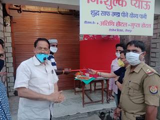 प्रवासी मजदूरों के लिए रोडवेज तिराहे पर लगाया गया नि:शुल्क प्याऊ   #NayaSabera