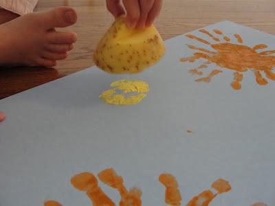 potato stamping