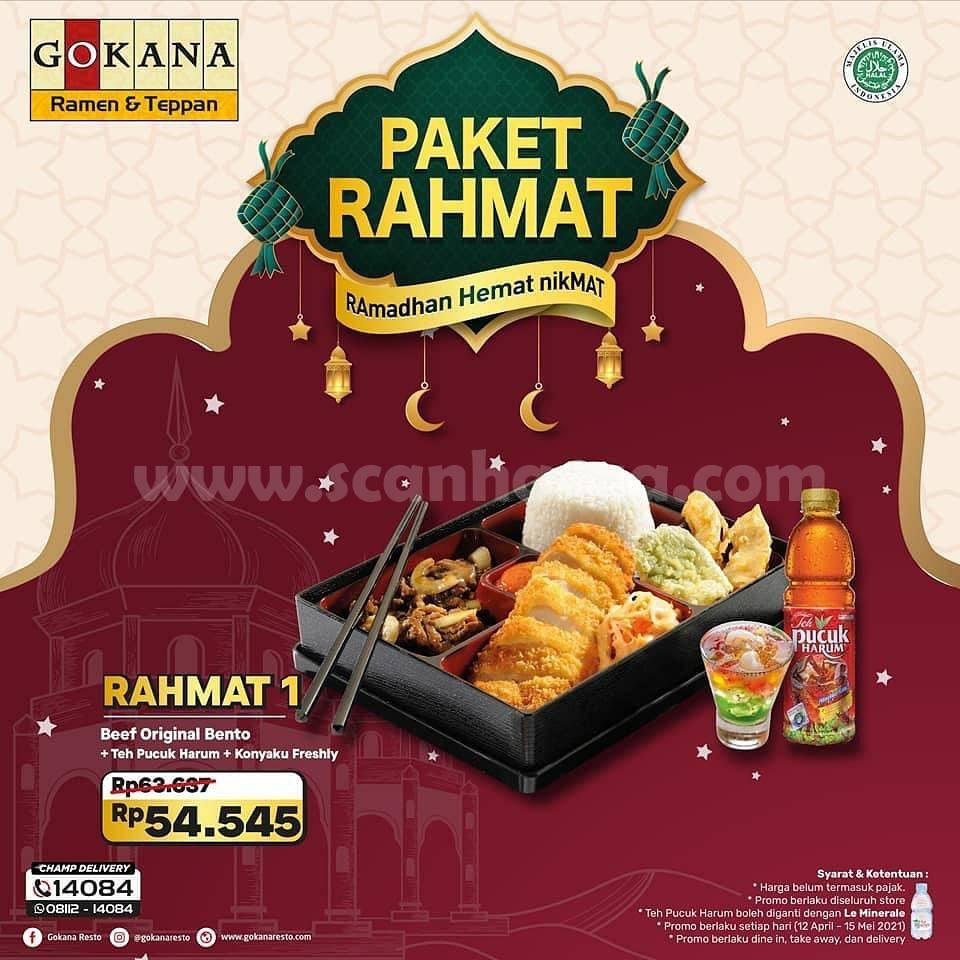 Promo Gokana Ramadan Terbaru - Paket Rahmat harga mulai 50 Ribu-an