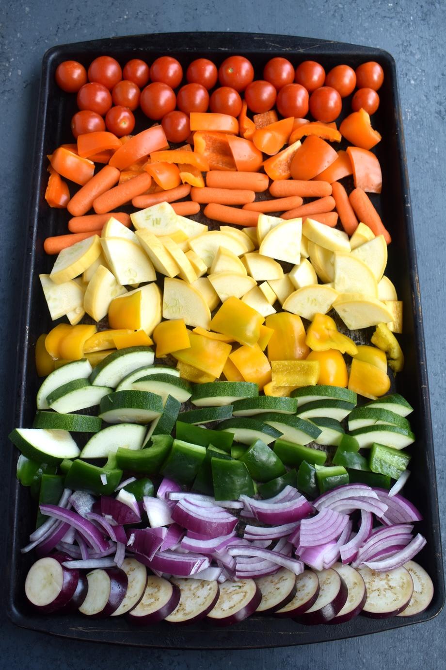 rainbow vegetables