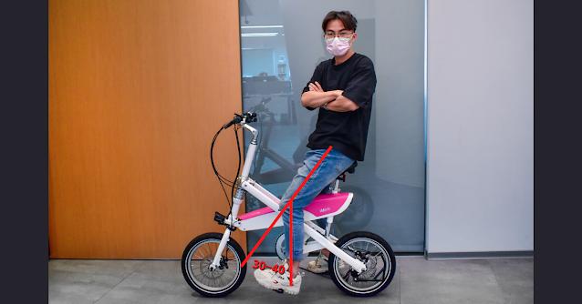 imiro電動自行車,自行車椅墊最適合高度及膝蓋彎曲角度