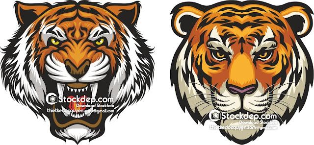 Chia sẻ vector con hổ