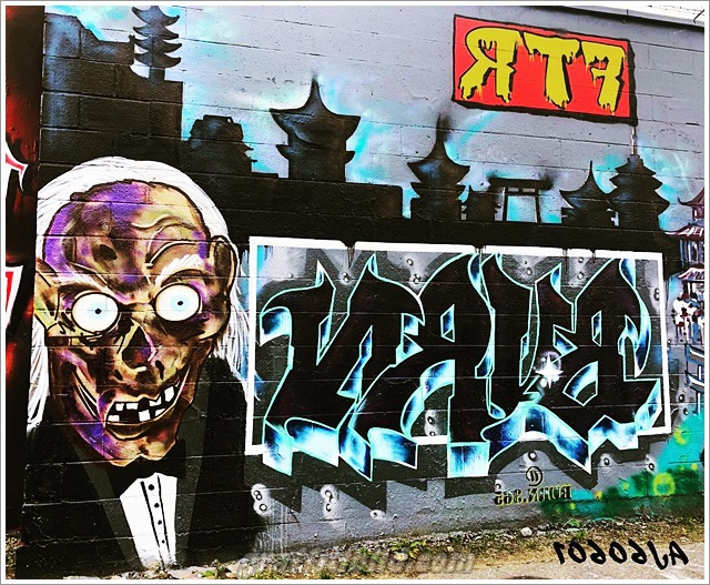 Halloween, graffiti, street art, kürbis, halloween horror art