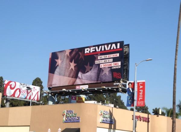 Eminem Revival billboard