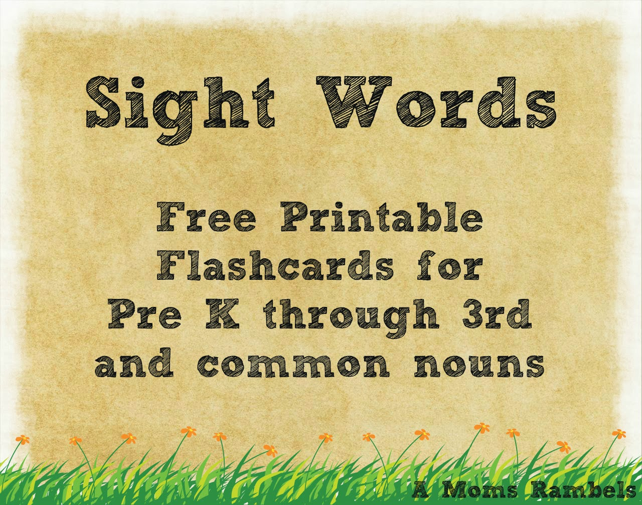 Worksheets Kindergarten Sight Words Printables Flash Card To Print a moms rambles sight words free printable flashcards flashcards