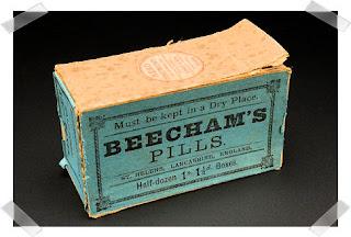 Box for Beecham's pills, St Helens, England, 1859-1924.