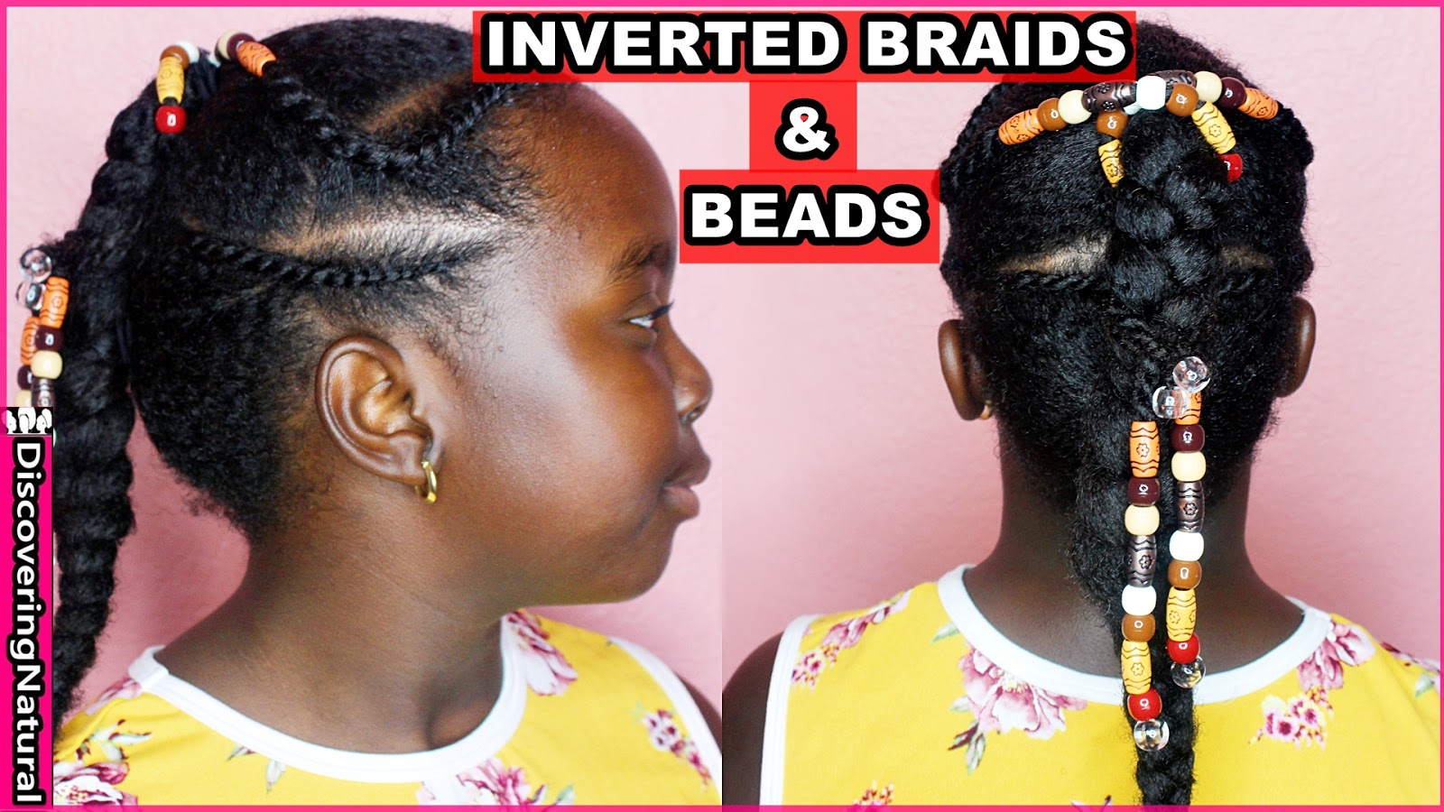 Discoveringnatural Kids Natural Hairstyles Inverted Braid Flat