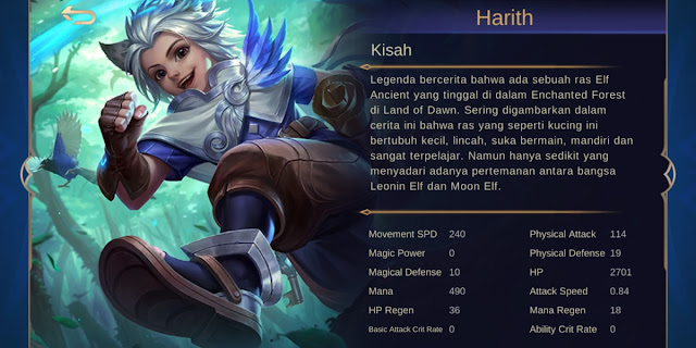 Harith hero meta terbaru season 16 mobile legends