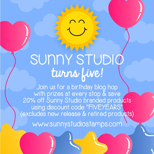 Sunny Studio Stamps: 5th Birthday Blog Hop with Sale, Inspiration and (15) $25 Gift Code Giveaways!