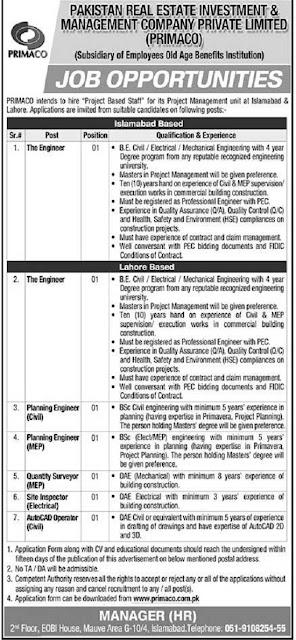 primaco-jobs-2021-application-form-download