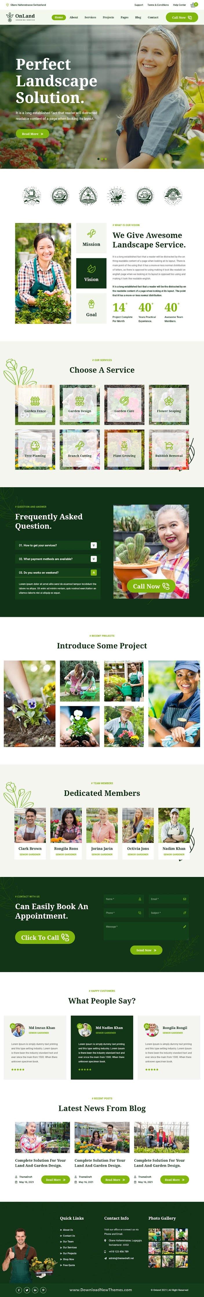 Gardening Responsive WordPress Theme