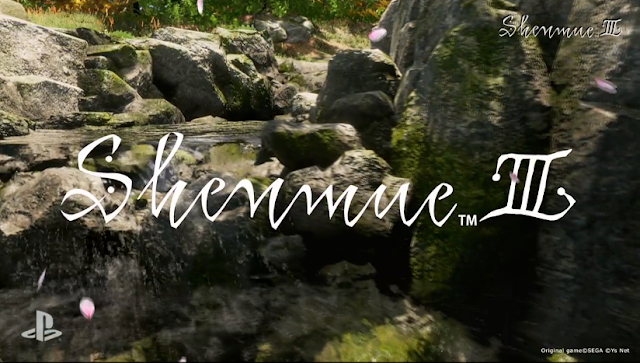 Shenmue 3 III title screen Kickstarter logo screenshot