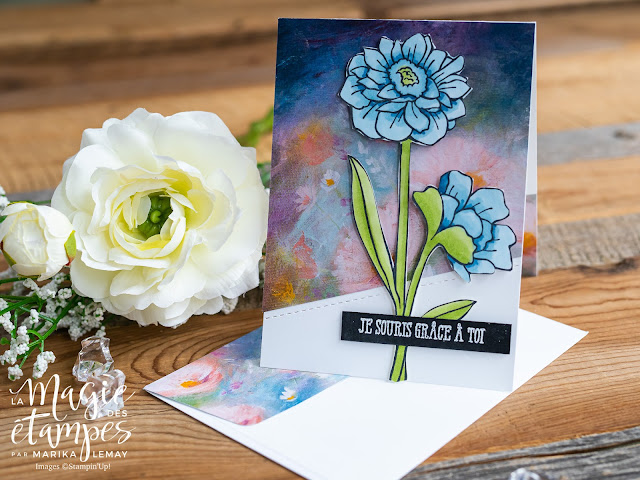 Cartes Stampin Up! avec le jeu d'étampes Band Together et le papier de la série design Essence éternelle