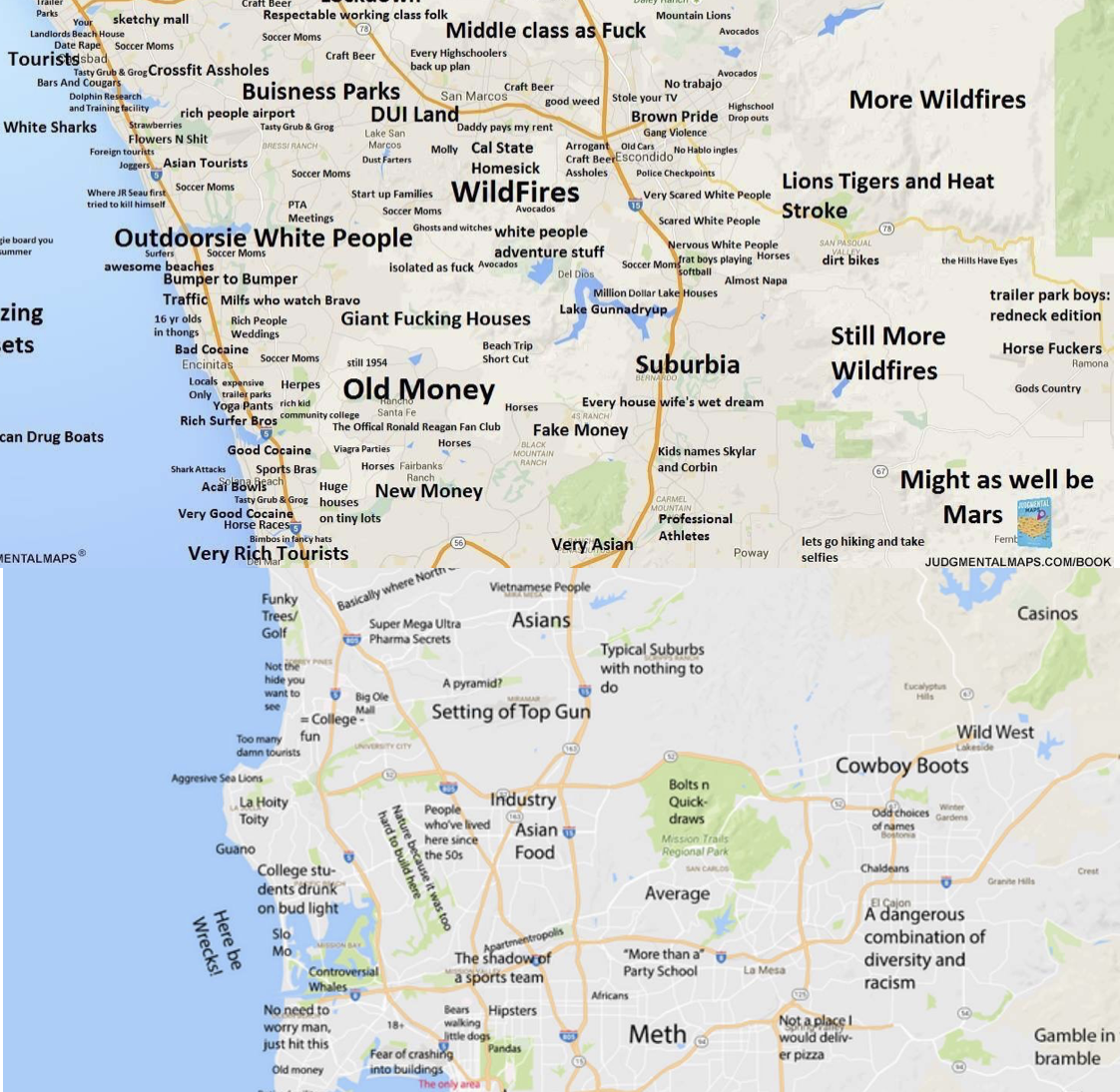 SanDiegoVille: TBT RePost: The Judgmental Maps Of San Diego