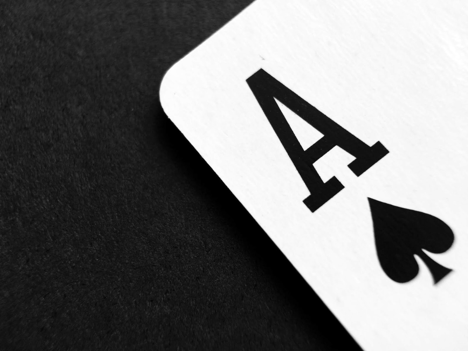 Free download, the ace of spades photography. In black and white. An ace in the hole gambling photograph.