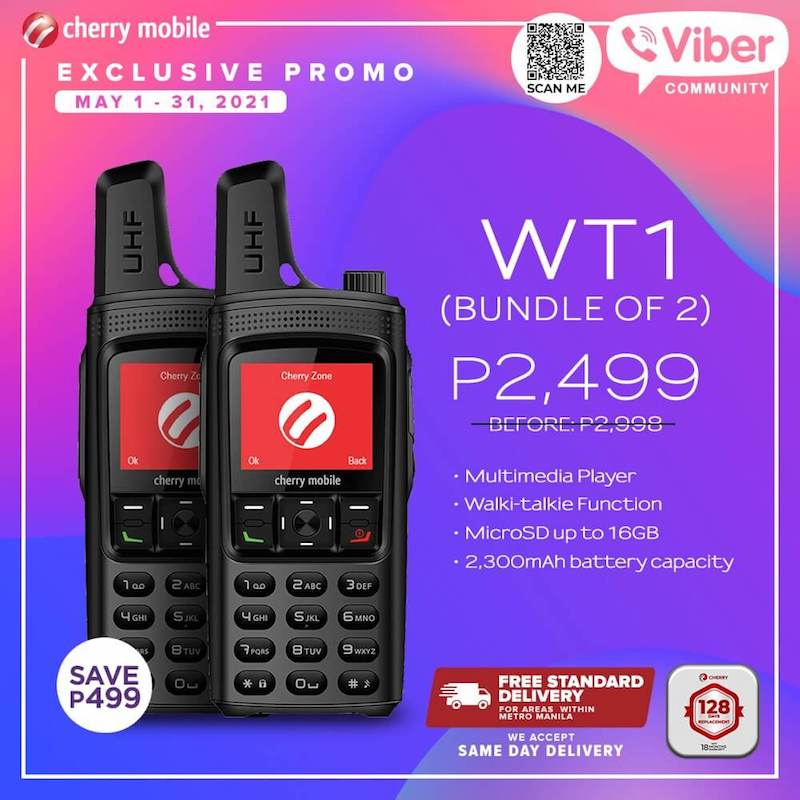 Deal: Cherry Mobile WT1 available for a bundle of two until May 31, 2021, priced at PHP 2,499