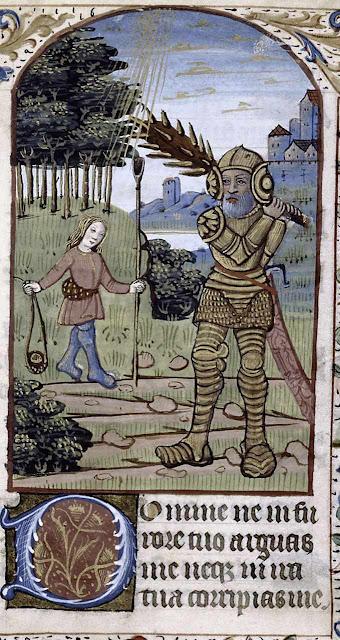 Davi contra Golias, De Ricci MS 050, f 71