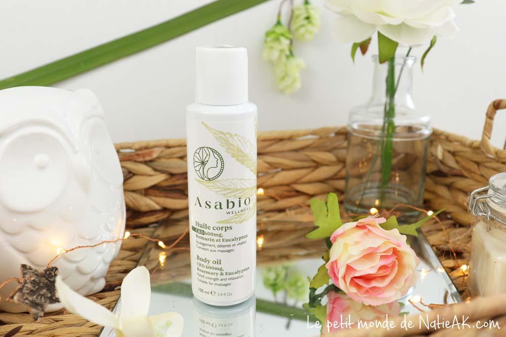 huile de massage relaxante pour le corps bio Asabio
