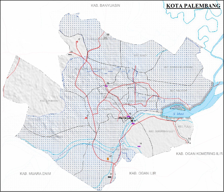 Peta Jalan di Kota Palembang