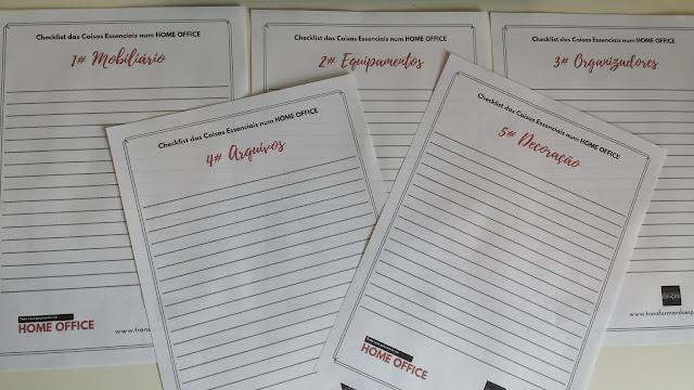Checklist das Coisas Essenciais num Home Office