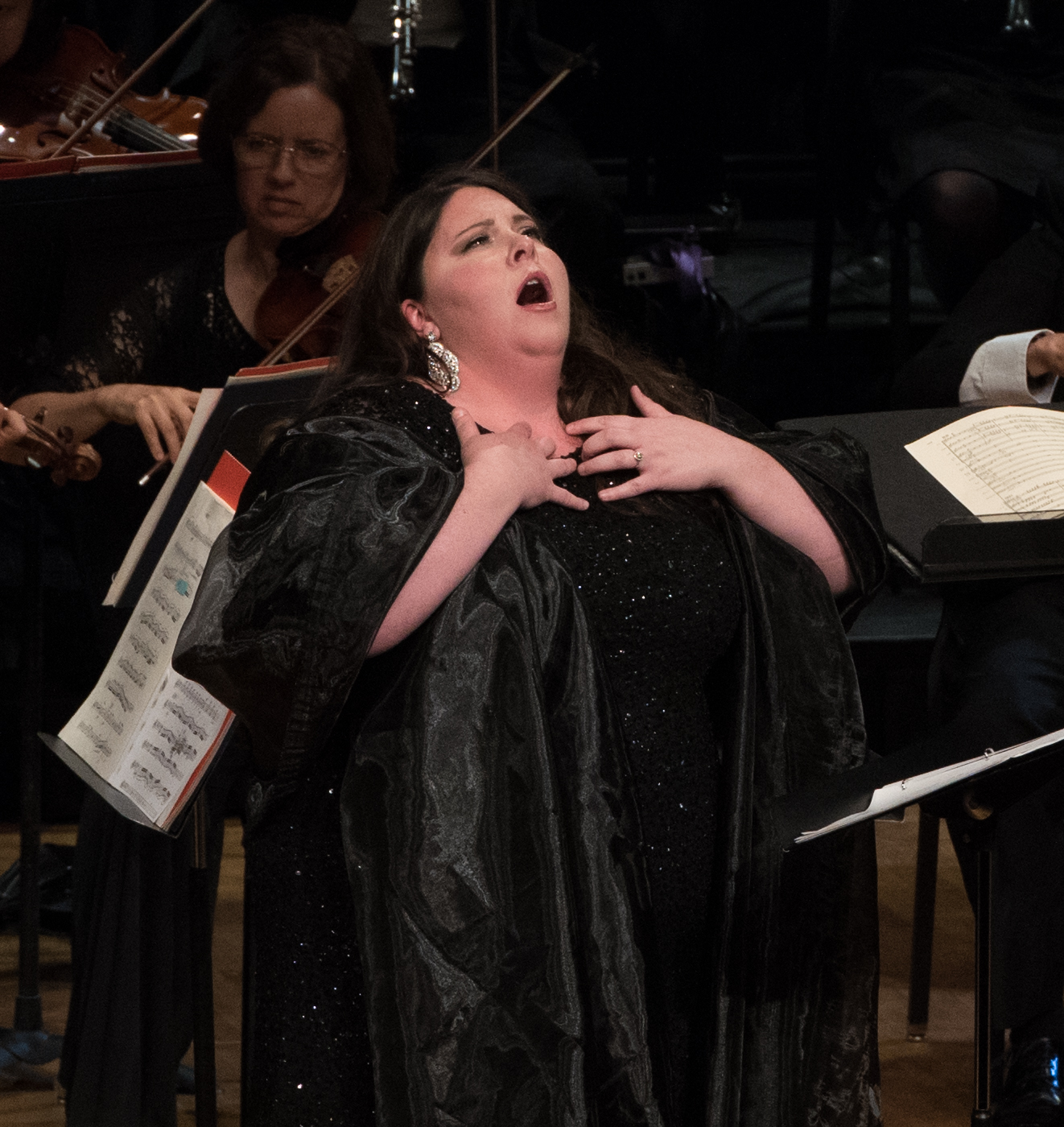 IN REVIEW: Soprano ANGELA MEADE sings Marguerite's 'O beau pays de la Touraine' from Giacomo Meyerbeer's LES HUGUENOTS in Washington Concert Opera's 30th Anniversary Concert [Photo by Don Lassell, © by Washington Concert Opera]