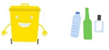 Yellow trash can
