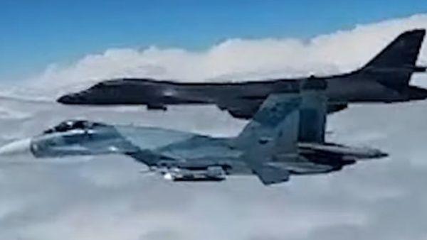 Cazas rusos interceptan aviones de EE.UU. cerca de su frontera